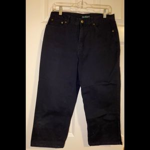 EUC Lauren black crop jean.